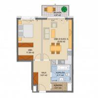 2 izbový byt, Bratislava-Ružinov, 1 m², Novostavba
