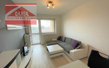 Ponúkame na prenájom zariadený 2 izbový byt v novostavbe Solitaire na Mierovej ulici v Ružinove.