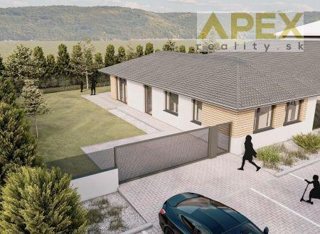 Exkluzívne APEX reality rovinatý stavebný pozemok 549 m2, všetky IS, projekt + stavebný povolenie