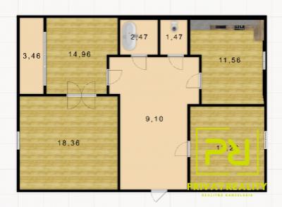 Ponúkame na predaj 3-izbový byt s loggiou na Prievozskej ulici.