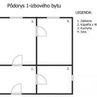 1 izbový byt, Nové Zámky, 36 m², Kompletná rekonštrukcia