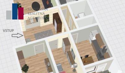 EXKLUZÍVNY PREDAJ: 4-izbový 87m2  byt s výbornou dispozíciou v pôvodnom stave, BA-Petržalka