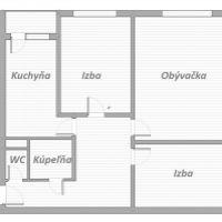 3 izbový byt, Bratislava-Petržalka, 74 m², Čiastočná rekonštrukcia