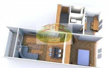 Veľký 2 izbový byt, s lodžiou 64  m2, ZV typ, B. Bystrica,  Fončorda,  – cena 139 000€