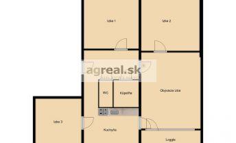 Predaj- 4-izb. byt (78,62 m2), K. Adlera, BA IV- Dúbravka