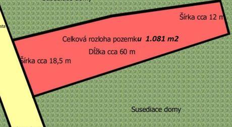 Na predaj stavebný pozemok, 1.081 m2, Beckov