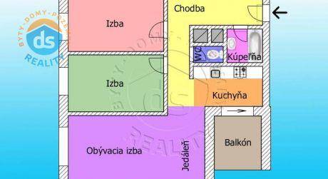 Na predaj 3 izbový byt, 94,2 m2, Novostavba, Dubnica nad Váhom Háje