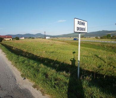 Veľký stavebný pozemok, Plevník-Drienové , 2500 m2, možnosť rozdelenia.
