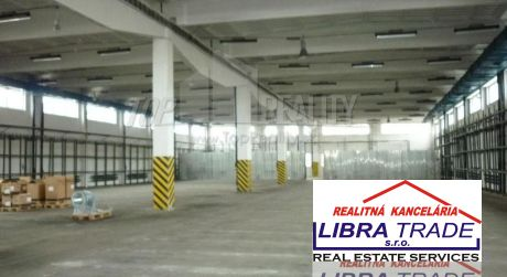 Libra Trade s.r.o. ponúka prenájom Výrobného objektu v priemyselnej zóne