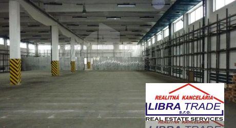 Libra Trade s.r.o. ponúka na prenájom skladový objekt 500m2