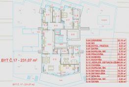 Luxusný penthaus - 5-izbový holobyt + 3 kúpeľne, Trenčín – Jesenského ul., 231,07 m2, CENA DOHODOU