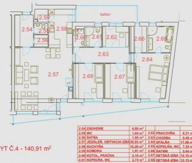 Nadštandardný 4-izbový holobyt + 2 kúpeľne, Trenčín – Jesenského ul., 140,91 m2 - DOHODOU.