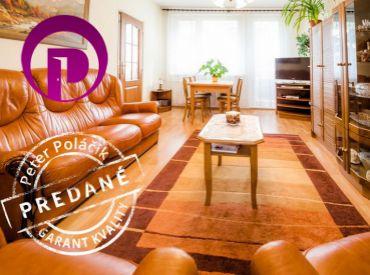 PREDANÉ - Ul. LÍŠČIE ÚDOLIE, 3i byt, 74,41 m2, v nízkopodlažnom bytovom dome s VEĽKOU LOGGIOU v krásnom a tichom prostredí