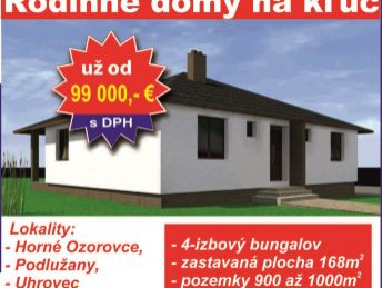 Novostavby RD - Uhrovec, Podlužany, Horné Ozorovce