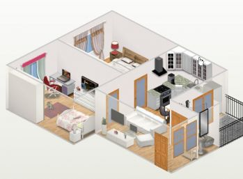 Zrekonštruovaný  3 i byt v Trebišove s nízkymi nákladmi