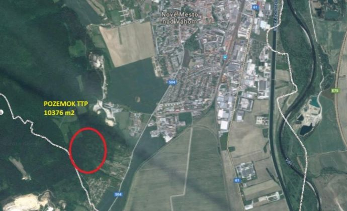 Pozemok TTP 10.376 m2, Nové Mesto nad Váhom.