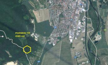 Pozemok TTP 4.589 m2, Nové Mesto nad Váhom.