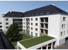 3i byt v Rajke na predaj; tehlová novostavba