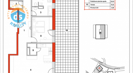 Na predaj novostavba 4-izbový byt, 125,67 m2, (A29), Slnečná Terasa, Sekcia A (dokon. 06-2016), Žilina - Hájik