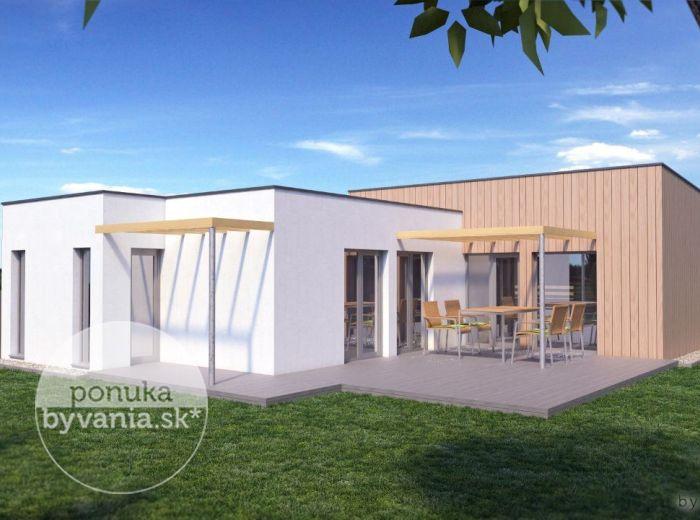 PREDANÉ - HRUBÝ ŠÚR, 4-i dom, 87 m2 – moderná NOVOSTAVBA bungalovu, pozemok 512 m2, kvalitné materiály, veľká terasa, v NOVEJ OBYTNEJ ZÓNE