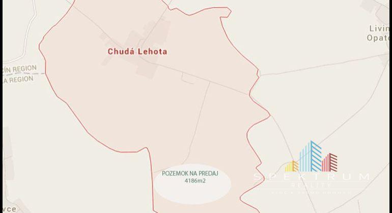 Chudá Lehota / orná pôda na predaj o výmere 4186m2 /12 km od BN
