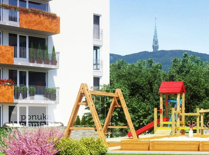 PREDANÉ - Rezidencie MACHNÁČ – Drotárska cesta, 4-i byt, 117 m2 – prestížne bývanie pri Horskom parku - teraz za CENY, NA KTORÉ STE ČAKALI!