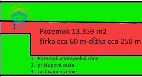 Na predaj pozemok - priemyselná zóna, 13.359 m2, Svinná - okres Trenčín.