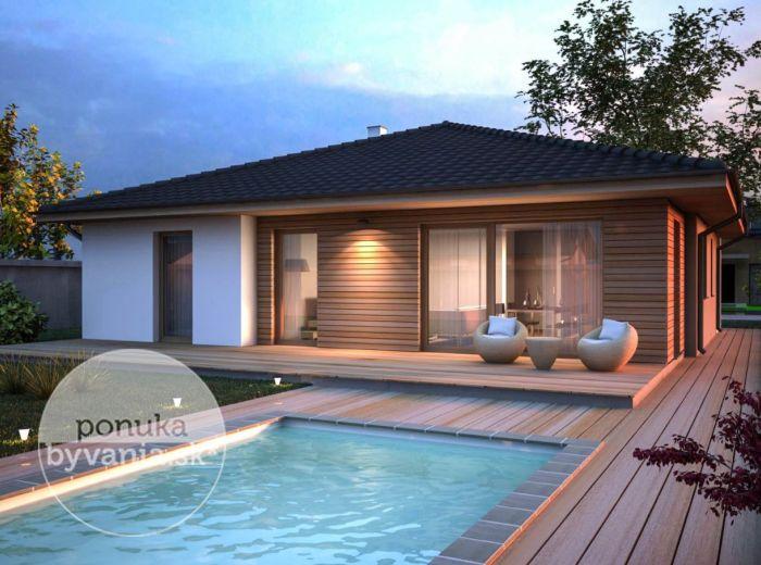 PREDANÉ - MILOSLAVOV, 4-i dom, 122 m2 - pozemok 814 m2, moderná novostavba typu BUNGALOV,možnosť OVPLYVNIŤ VÝSTAVBU, krásne prostredie