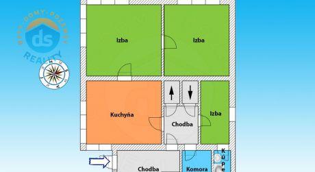 Na predaj rodinný dom + garáž, 1037 m2, Bytča
