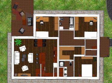 REZERVOVANÉ*** Rodinný dom Košeca, NOVOSTAVBA NA KĽÚČ - pozemok 640 m2