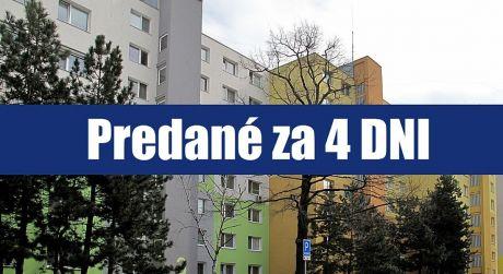 PREDANÉ ZA 4 DNI: 2 izbový byt v Petržalke - Ovsišti je výborné miesto na bývanie a výchovu detí