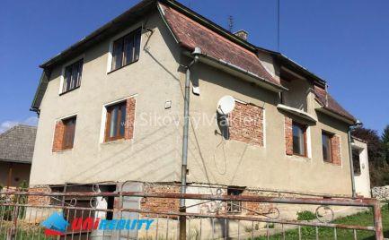 VEĽKÉ DRŽKOVCE – Horné Držkovce –  rodinný dom na predaj 3+1/ okres Bánovce nad Bebravou / pozemok 1.279 m2, IBA U NÁS!!!