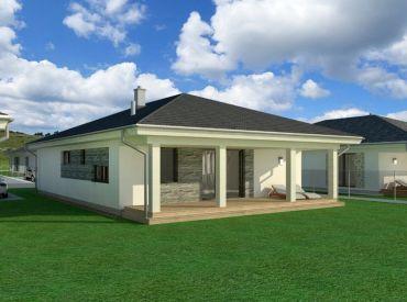 Kvalitný bungalov 117 m2 s veľkou krytou terasou 25 m2 na začiatku Rovinky! Najlepšia lokalita v Rovinke !Rýchly prístup do BA!