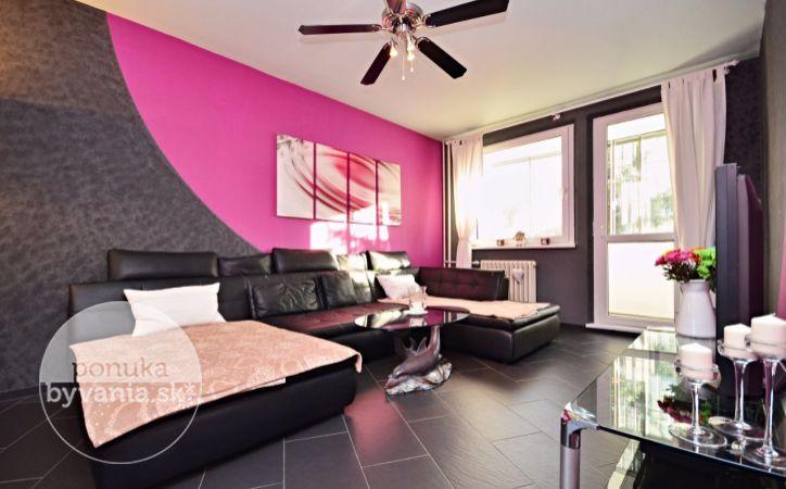 PREDANÉ - TOPLIANSKA, 4-i byt, 78 m2 – MODERNÝ dizajnový byt S LOGGIOU, prerobený na 3-izbový, zateplený, BEZ ĎALŠÍCH INVESTÍCIÍ