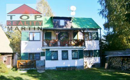 Murovaná rekreačná chata s pozemkom 1100 m2 vo Vrútkach, Karvaša a Bláhovca