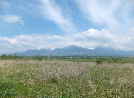 Na predaj stavebný pozemok s výhľadom na Vysoké Tatry - Veľký Slavkov