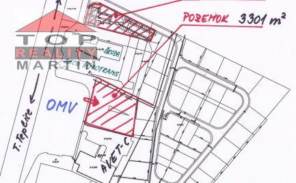 Pozemok 3301 m2 v lokalite Martin - Košťany nad Turcom