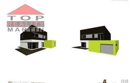 Nízkoenergetický dom 130 m2 s pozemkom 600 m2 v uzatvorenom areáli v lokalite Martin - Košťany