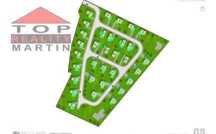 Pozemok 600 m2 s projektom rodinného domu v lokalite Martin - Košťany nad Turcom