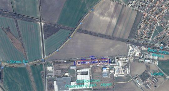 Sládkovičovo, Veľkoúľanská:  Predaj stavebného pozemku 11.264m2 v priemyselnom parku