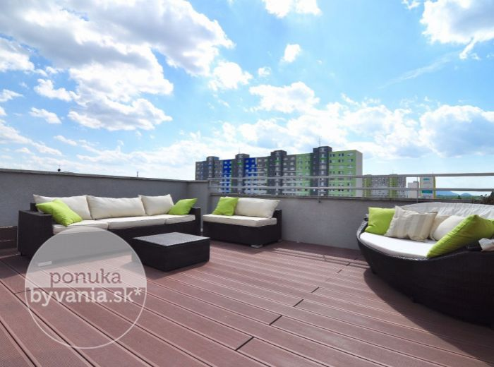 PRENAJATÉ - ZADUNAJSKÁ, 2-i, 77 m2, štýlový byt v NOVOSTAVBE, vyhradené parkovanie, VEĽKÁ TERASA