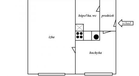 Predaj 1 izbového bytu na Sliači