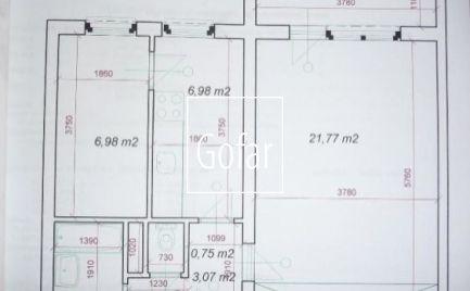 1.5 izbový byt s balkónom, Bratislava-Ružinov, Mesačná ul, 48m2