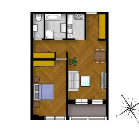 STARBROKERS - PREDAJ - 2 izb. byt, NOVOSTAVBA, Ružinov, dokončenie v štandarde