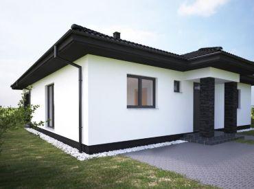 Nový projekt pri hrádzi v obci HAMULIAKOVO ! Bungalov 108m2 s pozemkom 600m2 od 149900,- Akcia na prvé domy!!!