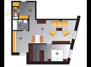 Nový dvojizbový byt 72 m2 s garážovým státím v Piešťanoch pri parku.