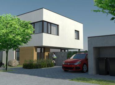 LUXUSNÉ SAMOSTATNÉ DOMY s  pozemkom v  projekte www.vilyskolska.sk - centrum obce! KUCHYŇA V CENE pre prvé 3 domy!!!