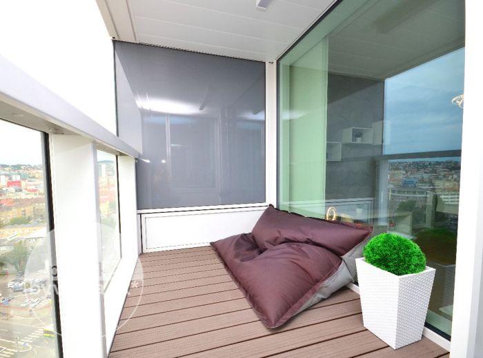 PRENAJATÉ - PANORAMA CITY, 2-i byt, 59 m2 – luxusný byt S NAJLEPŠÍM VÝHĽADOM, komplet elegantne zariadený + NAJLEPŠIE PARKOVANIE
