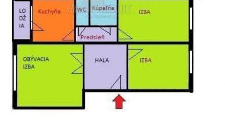 Predaj zrekonštruovaného 3izbového bytu s loggiou v Petržalke