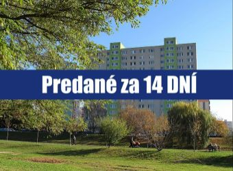PREDANÉ ZA 14 DNÍ: Hľadáte priestranný 3 izbový byt v Petržalke, len na skok od centra mesta?